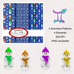 Snowmen Seamless Design